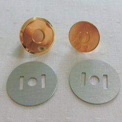 画像1: 薄型マグネット18mm(ゴールド)