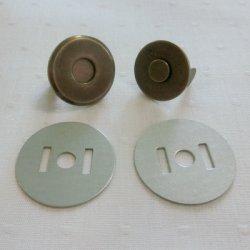 画像1: 薄型マグネット18mm(アンティークゴールド)