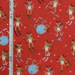 画像1: USA生地<703>クリスマス(赤)