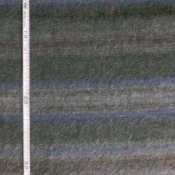 画像1: 国産ウール生地<142>横ボーダー・グリーン