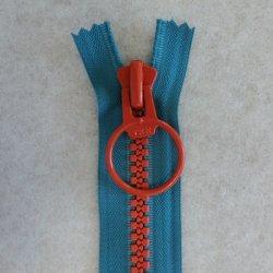 画像1: リングファスナー(28cm)ブルー・オレンジ