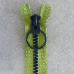 画像1: リングファスナー(38cm)グリーン・紺