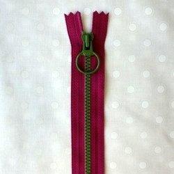 画像1: カラフルファスナー(20cm)ショッキングピンク・グリーン