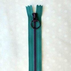 画像1: カラフルファスナー(16cm)ブルー・紫