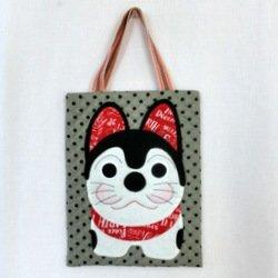 画像1: こま犬ちゃんのバッグ(持ち手別売り)